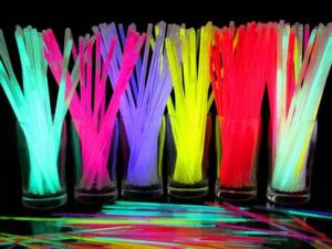 Светящиеся палочки, браслеты, цвета МИКС