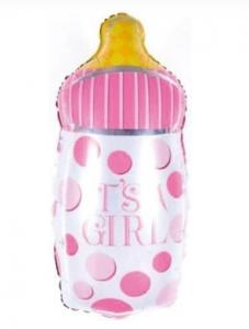 """Фольгированный шар """"Бутылочка  розовая"""" 76 см"""
