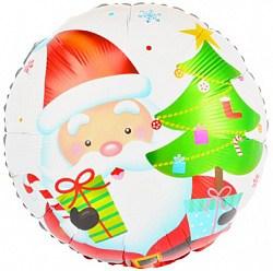 """Фольгированный шар Дед Мороз 18"""""""