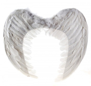 Крылья ангела, белые, 100 см х 80 см