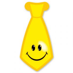 Галстук Улыбка желтый 8шт