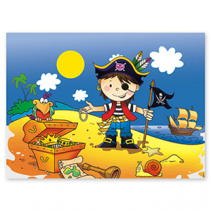 Скатерть Маленький пират, 130*180 см