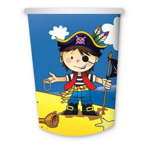 Стаканы бумажные Маленький пират, 6 штук