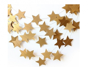 Подвеска Звезды, Золото, 210см