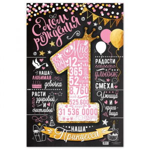 "Плакат на 1 год ""С днем рождения!"""