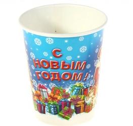 """Стакан бумажный """"С новым годом"""" дед мороз, 225 мл, набор 6 шт"""