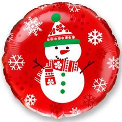"""Фольгированный шар Снеговик 18"""""""