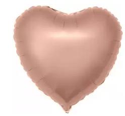 Шар (19''/48 см) Сердце, Розовое Золото, 1 шт.