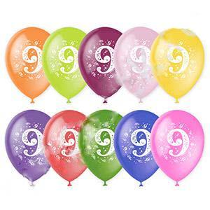 Воздушный шар цифра 9 (Девять)