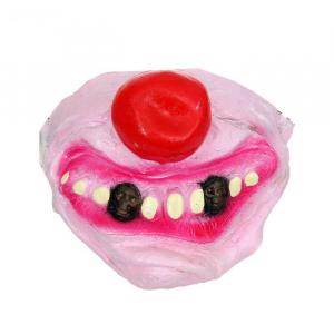 "Полумаска латекс ""Улыбка клоуна"", два зуба"