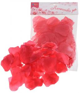 Лепестки роз, цвет - фуксия, набор 150 шт