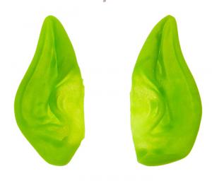 Уши эльфа зеленые светоотражающие 13*7