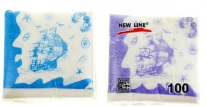 """Салфетки бумажные, Новая линия """"Корабли"""""""