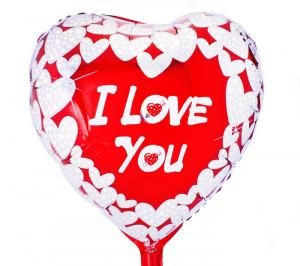 """Шар фольгированный сердце """"I Love you"""""""