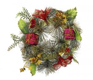 """Новогодний венок """"Подарки"""", диаметр 20 см"""