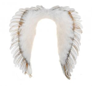 Карнавальные крылья ангела, цвет белый, с пухом