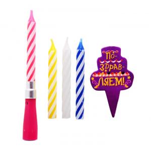 """Свеча музыкальная """"Всем тортам торт"""" + 3 свечи"""