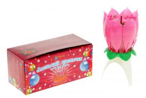 Свеча-цветок для торта,музыкальная