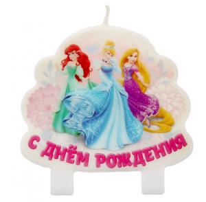 """Свеча в торт """"С днем рождения"""", Принцессы"""