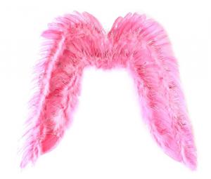 Крылья ангела, розовые с блестками