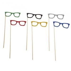 Карнавальный аксессуар на палочке очки