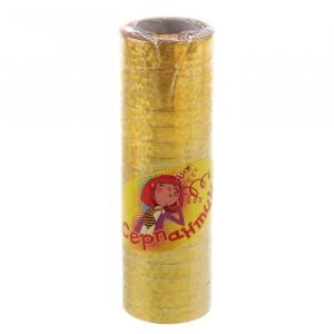 Серпантин блестящий, цвет золотой (в наборе 36 катушек)