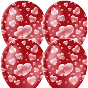Воздушный шар CHERRY RED Сердца