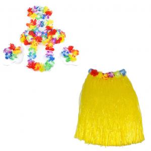 """Костюм """"Гавайская вечеринка"""" (юбка, бусы, браслеты, венок)"""