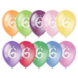 Воздушный шар цифра 6 (Шесть)