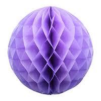 Бумажные шары соты сиреневый цвет 20 см
