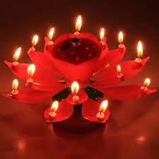 """Свеча восковая для торта музыкальная вращающаяся """"Бутон"""" (14 свечей)"""