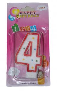 Свеча в торт цифра 4 точки