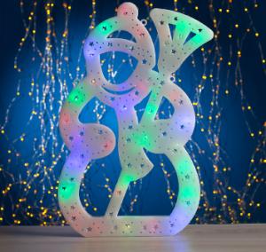 "Фигура ""Снеговик с метлой"" 40х25 см, пластик, 40 LED, 240V МУЛЬТИ"