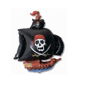 """Фольгированный шар Пиратский корабль (41""""/104 см)"""