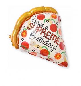 """Фольгированный шар """"Кусочек пиццы, Лучший ДР"""" 22""""/56 см Фигура,"""