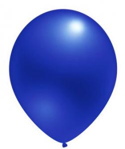 """Воздушный шар синий 12"""" Металлик"""