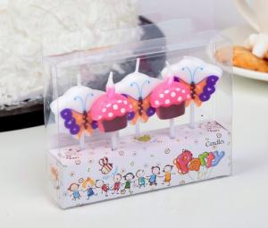 """Набор свечей в торт (5 шт) """"Бабочки и пирожное"""""""
