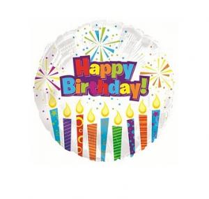 """Фольгированный шар """"С Днем рождения горящие свечи"""", 18"""""""
