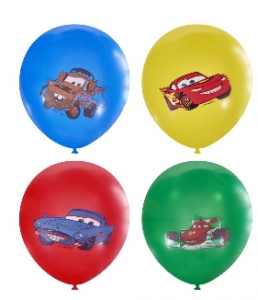 """Воздушный шар Дисней Тачки цветные 12"""""""