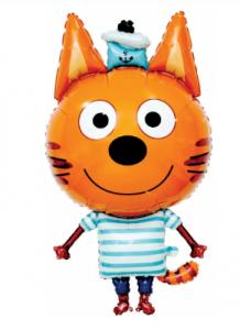 """Фольгированный шар  """"Три Кота, Коржик"""", 34''/86 см"""