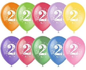 Воздушный шар цифра 2 (Два)