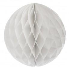 Бумажные шары соты белый цвет 20 см