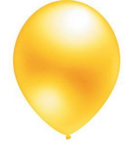 """Воздушный шар желтый 12"""" Металлик"""